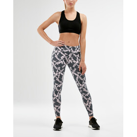 2XU Print Fitness Mid Rise Compression Tights Damer, textured blossom check/white